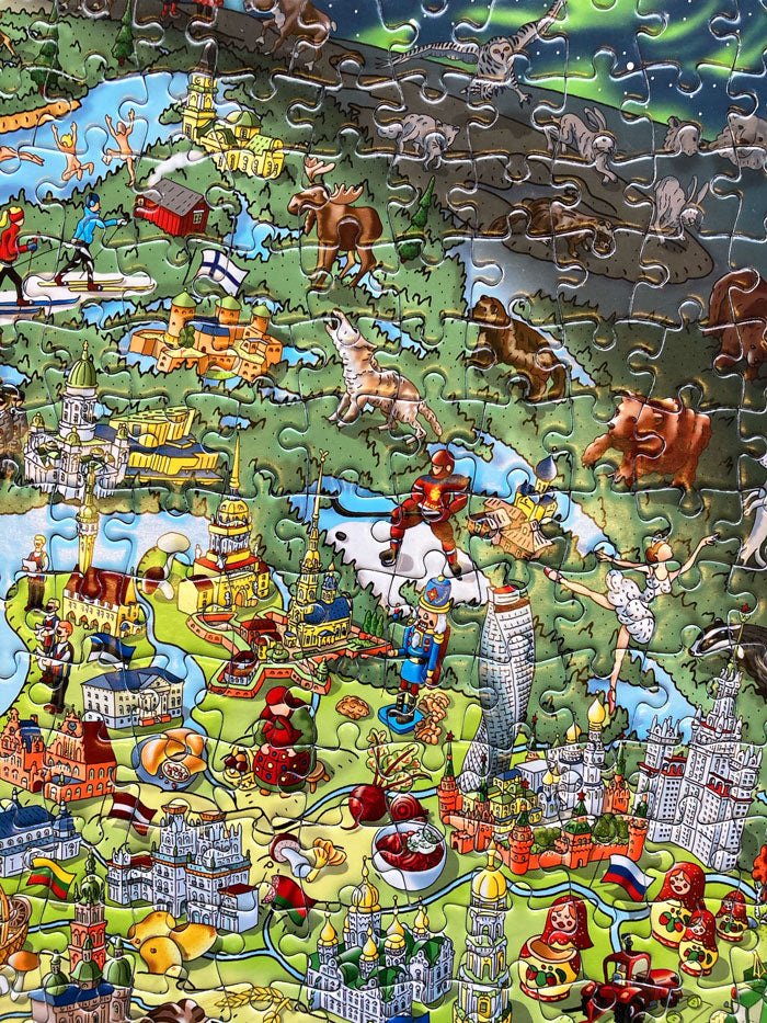 1,000 Piece Jigsaw Puzzle in Tin Box - This is Europe