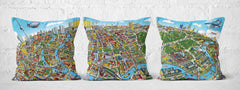 Cushion Triptych - Berlin Looking South in Full Colour