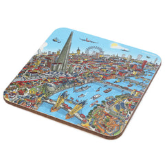Melamine Pot Stands - London Around the Shard (Full Colour)