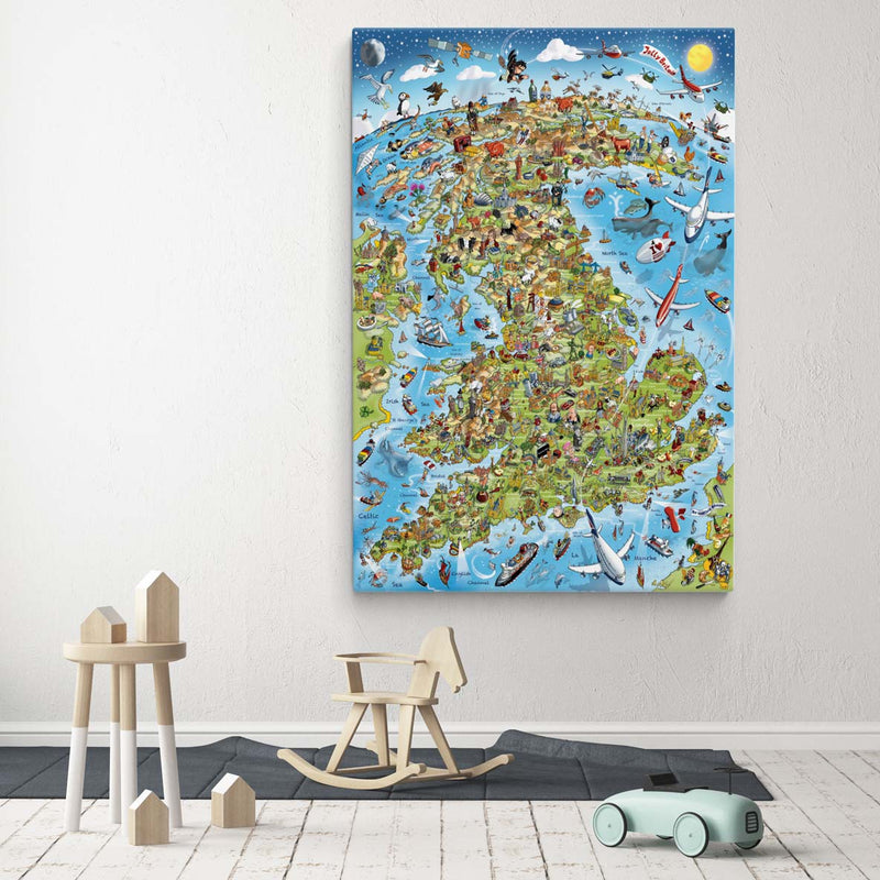 Open Edition Canvas - Jolly Britain in Full Colour