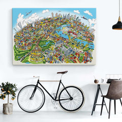 Open Edition Canvas - London Looking East in Full Colour