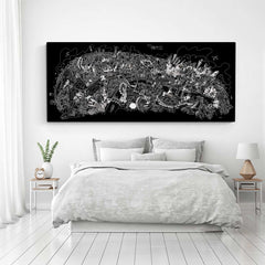 Limited Edition Canvas - London Looking North in Black & White