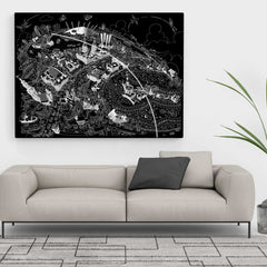 Limited Edition Canvas - Maritime Greenwich Black & White