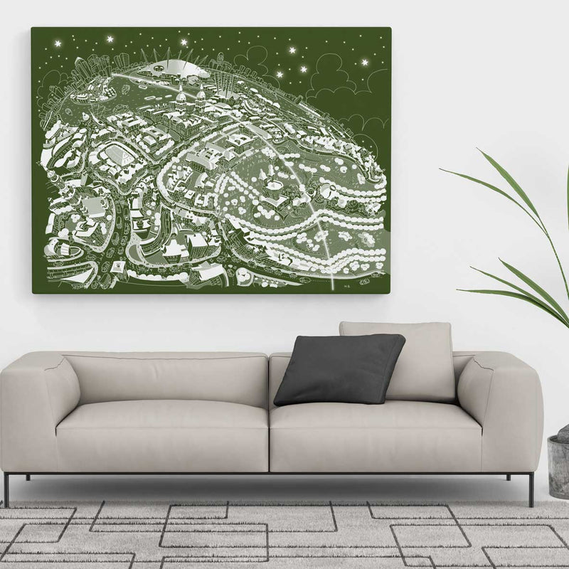 Open Edition Canvas - Maritime Greenwich Snowy Green - Special Edition