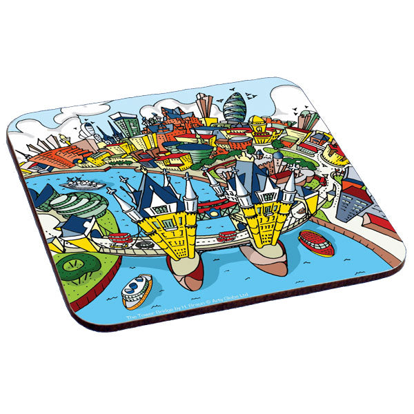 Set of 6 Melamine Coasters - London Scenes - Full Colour