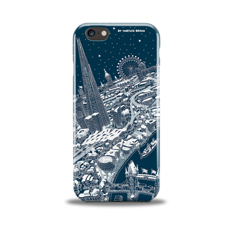 Smartphone 3D Case - London Around The Shard in White on Blue