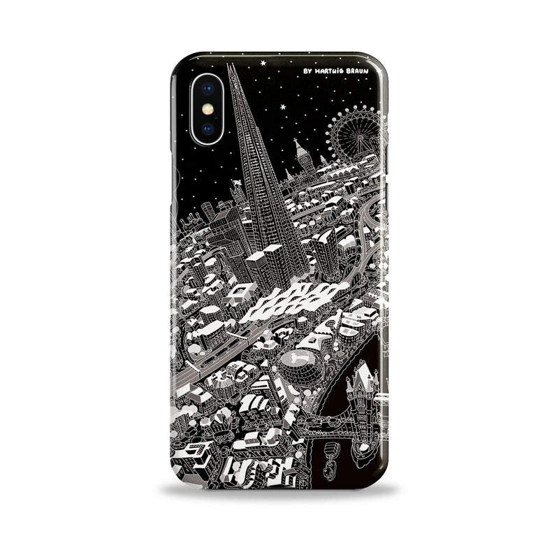 Smartphone 3D Case - London Around The Shard in Black & White