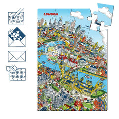 Jigsaw Puzzle Postcard - London Skyline - Full Colour (Portrait)