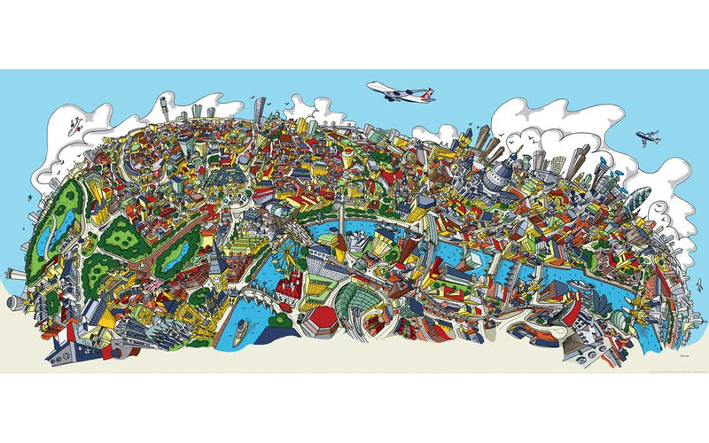 Large Art Print - London Looking North - Full Colour (Open Edition)