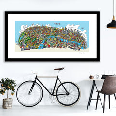 Open Edition Art Print - London Looking North in Full colours