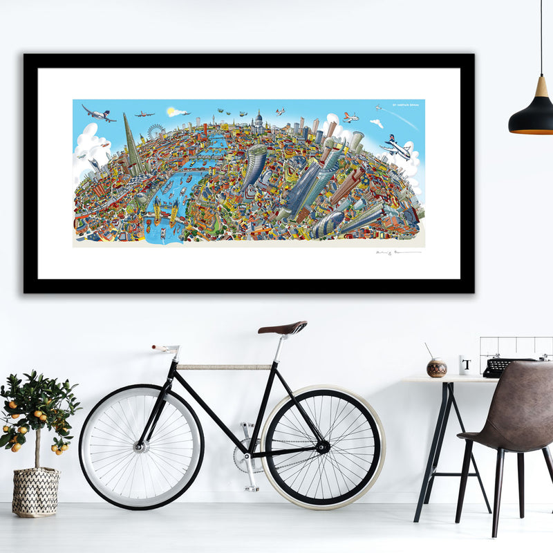 Open Edition Art Print - London Looking West in Full colours