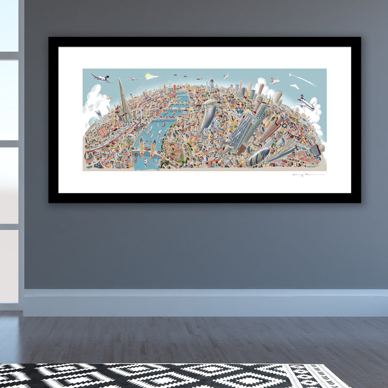 Limited Edition Art Print - London Looking West - Pastel Shades (Signed)