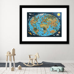 Open Edition Art Print - Our Wonderful Planet