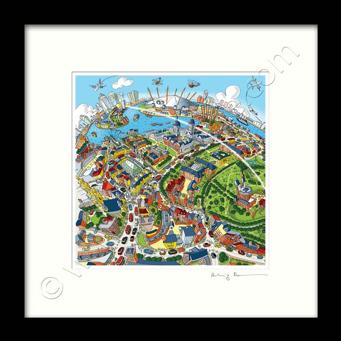 Square Mounted Art Print - Maritime Greenwich - Full Colour (Signed)