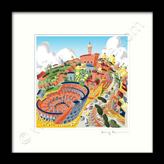 Square Mounted Art Print - Rome Colosseum - Full Colour (Signed)