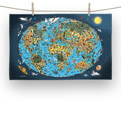 Cotton Tea Towel - Our Wonderful Planet