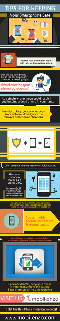 Tips For Keeping Your Smartphone Safe- Info-graphic