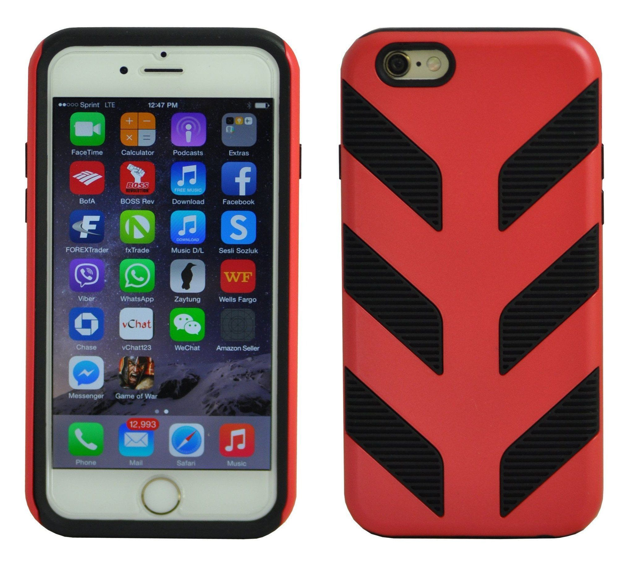 Pirella Case for iPhone 6 Plus - Red
