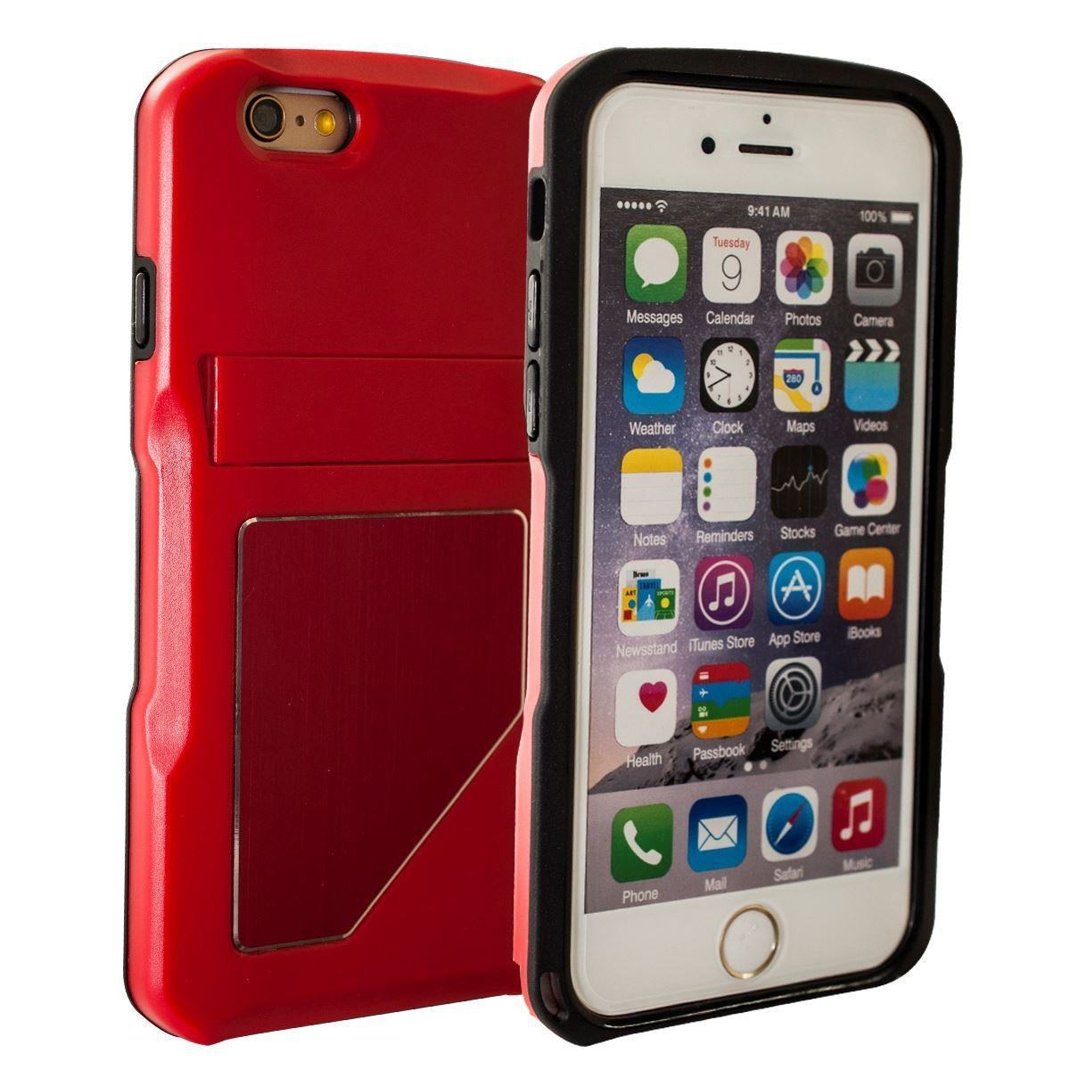 DualPro Standing Case for iPhone 6 Plus - Red