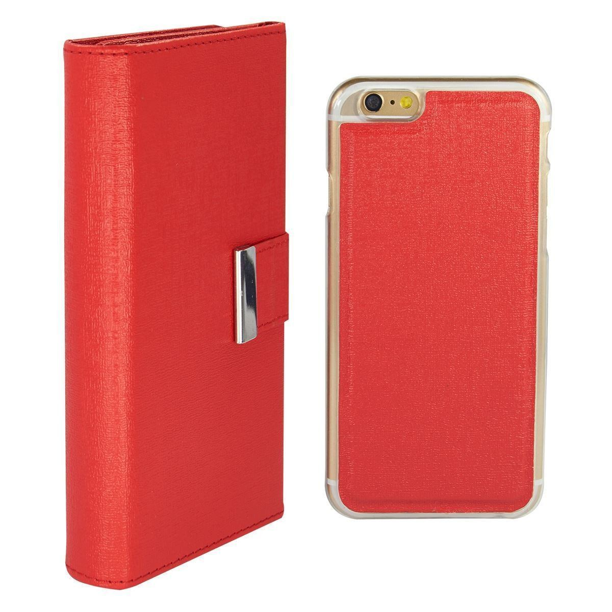 Real Wallet Case for iPhone 7 Plus /8 Plus - Red