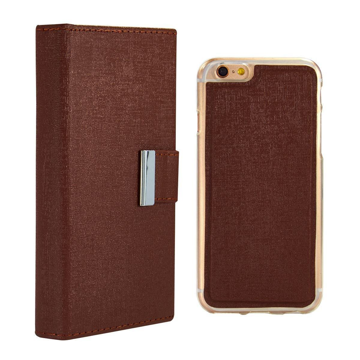 Real Wallet Case for iPhone 7 Plus /8 Plus - Brown