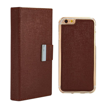 Real Wallet Case for iPhone 5C - Brown