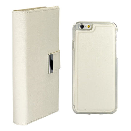 Real Wallet Case for iPhone 5C - White