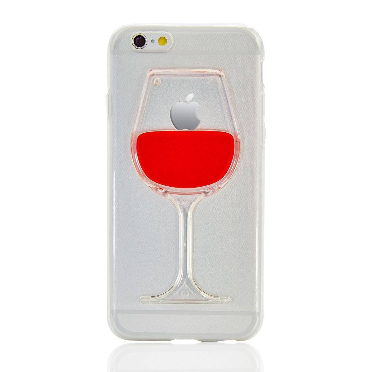 Liquid Glitter Case for iPhone 5C - Wine