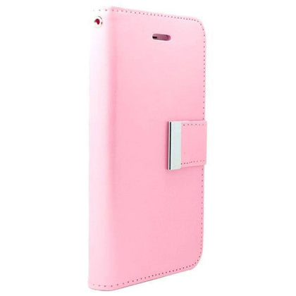 Leather Wallet Case for S6EP - Pink