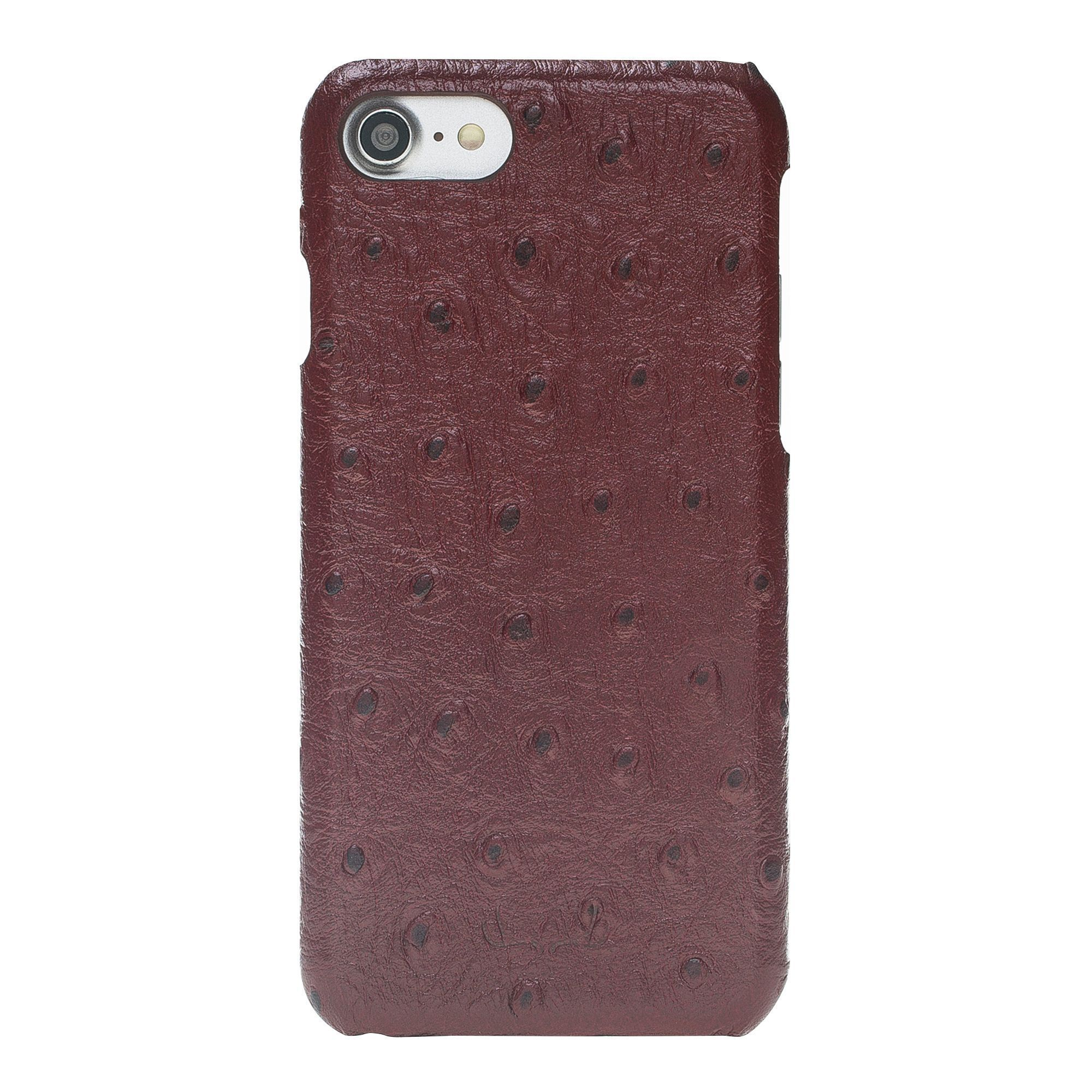 BNT Ultimate Jacket Leather Cases - Ostrich - iPhone 7/8 - Red