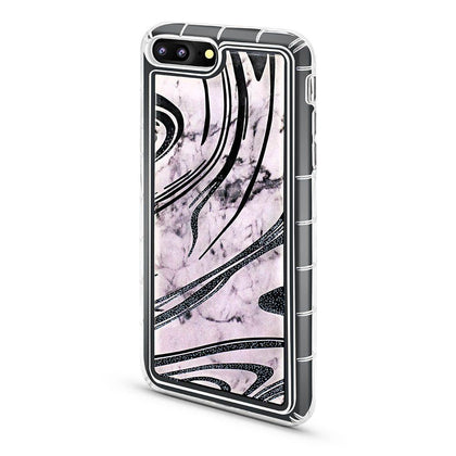 Abstract Liquid Case for iPhone 7/8 - Marble - Black