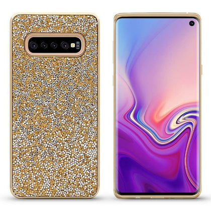 Color Diamond Case for Samsung Galaxy S10 - Gold