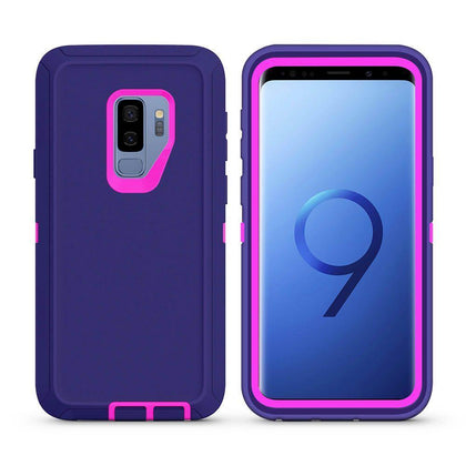 DualPro Protector Case For Samsung Galaxy S9 Plus - Purple & Pink