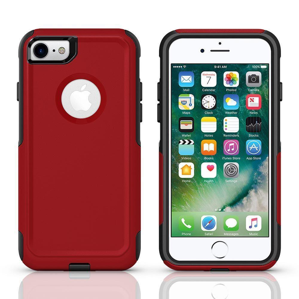 Protector Case for iPhone 7P /8 Plus - Red & Black