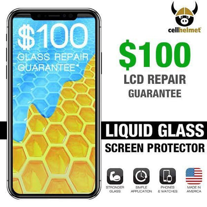 CellHelmet Liquid Glass + Screen Protection  (Phone, $100 Guarantee)