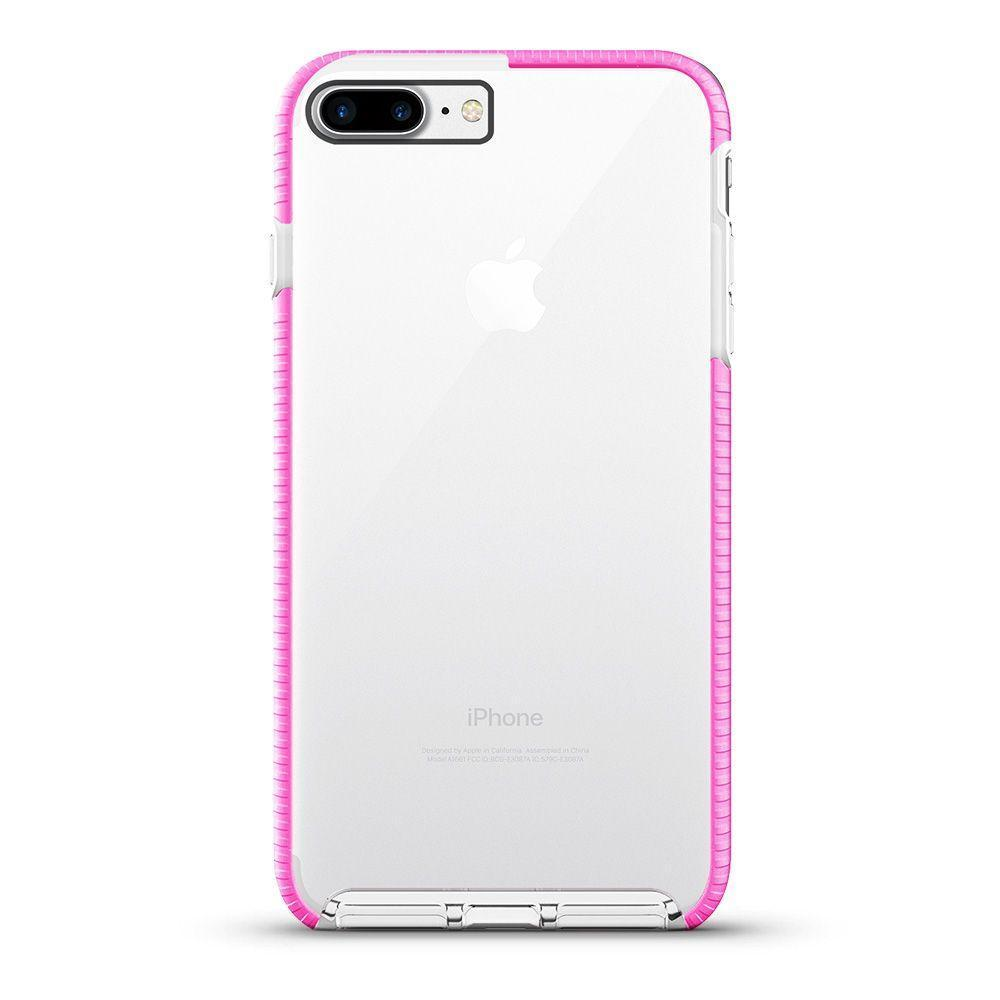 Elastic Clear Case for iPhone 6/7P /8 Plus - Pink Edge