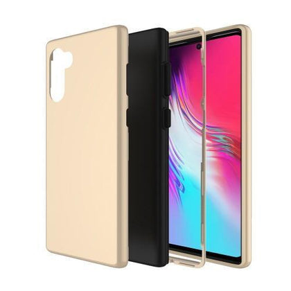 Hybrid Combo Layer Protective Case for Samsung Galaxy Note 10 Plus - Gold