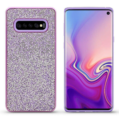 Color Diamond Case for Samsung Galaxy S10 - Purple
