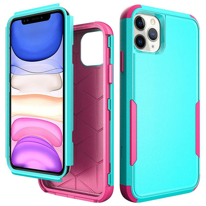 Commander Combo Case for iPhone 11 Pro Max - Teal and Pink