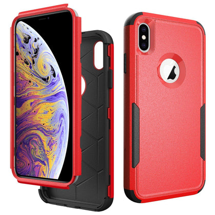 Commander Combo Case for iPhone Xs Max - Red and Black