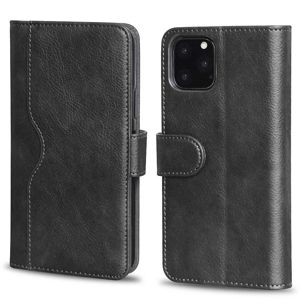 V-Wallet Leather Case For iPhone  Xs Max - Black