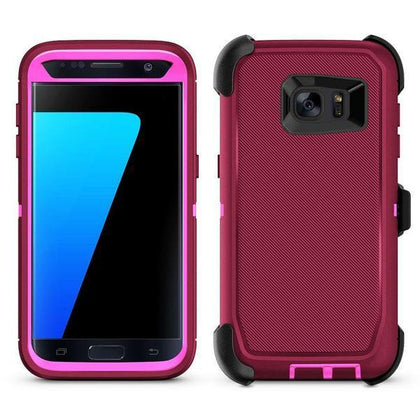 DualPro Protector Case for S7E - Burgundy & Pink