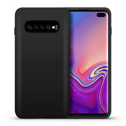Hybrid Combo Layer Protective Case for Galaxy S10 Plus - Grey
