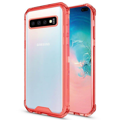 Acrylic Transparent Case for Samsung Galaxy S10 E - Red