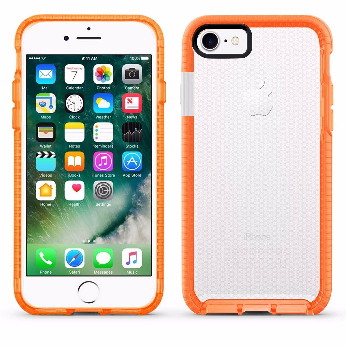 Elastic Dot Case for iPhone 7 /8 - Orange Edge