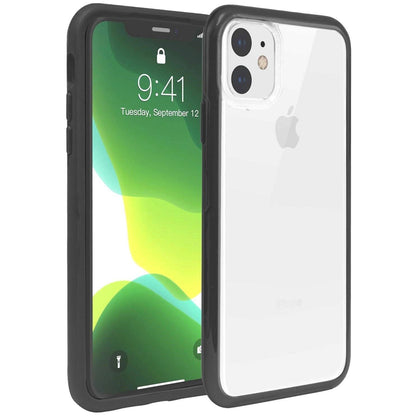 Hard Shell Transparent Back Case for iPhone 11 - Black Edge