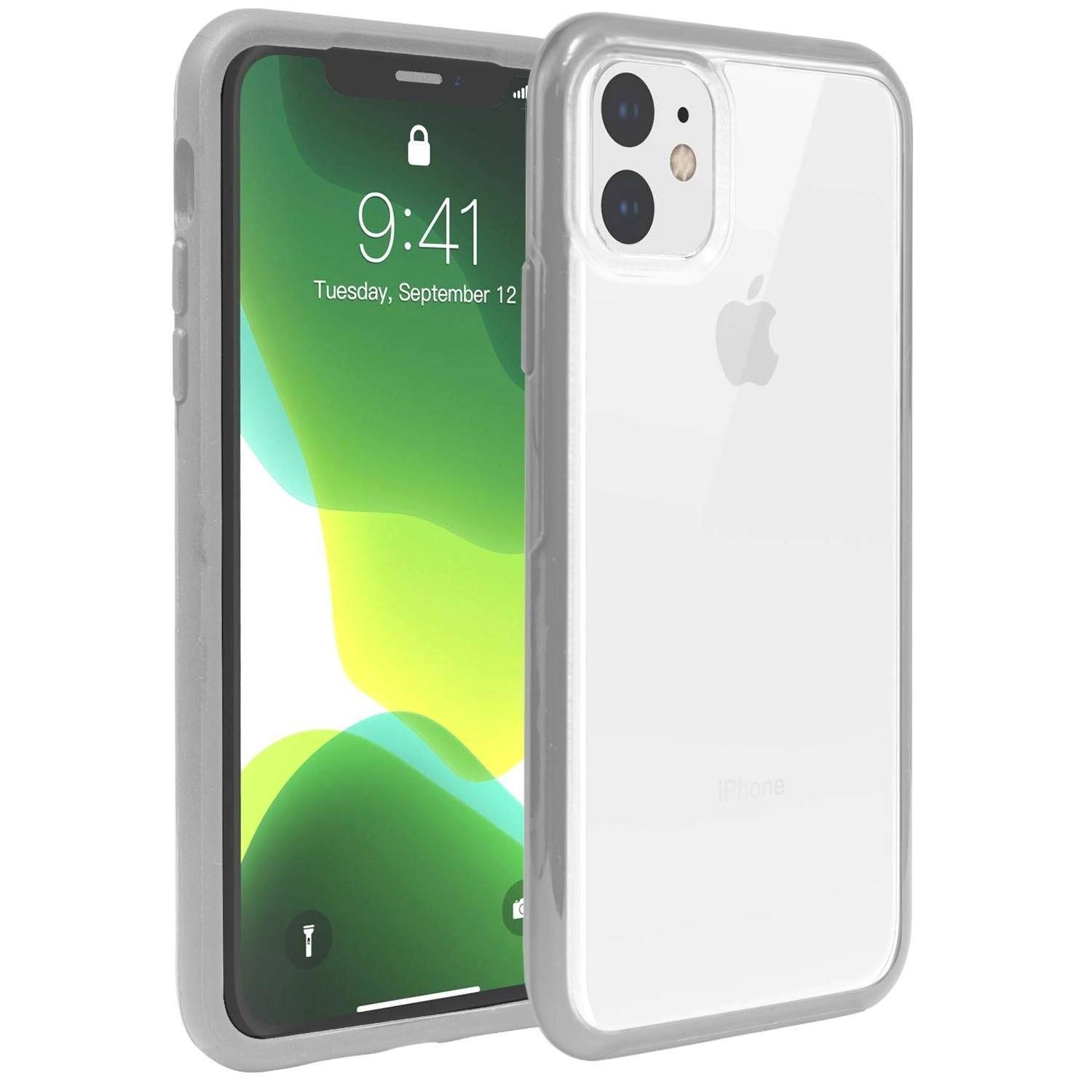 Hard Shell Transparent Back Case for iPhone 11 Pro Max - Grey Edge