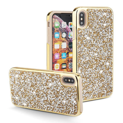 Color Diamond Hard Shell Case for iPhone Xs Max - Gold