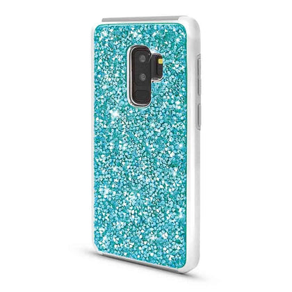 Color Diamond Hard Shell Case For Samsung Galaxy S9 Plus - Blue