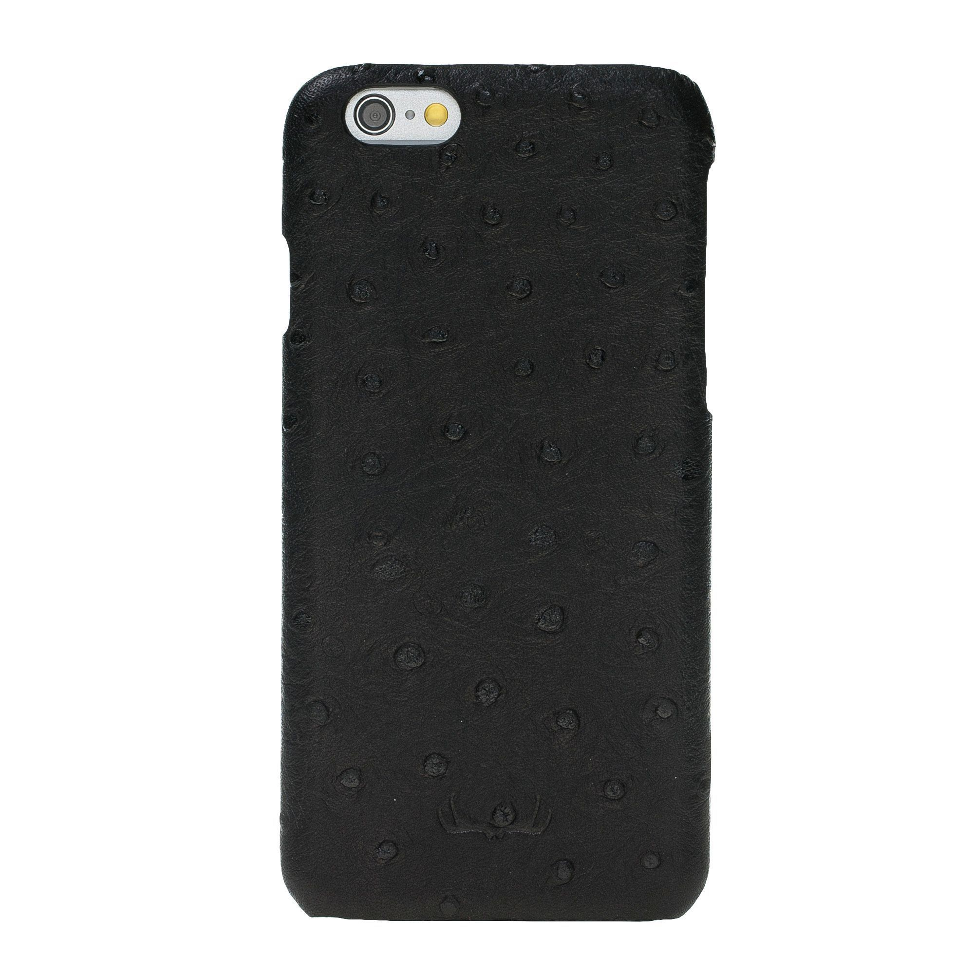 BNT Ultimate Jacket Leather Cases - Ostrich - iPhone 6/6S - Black